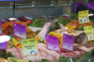 Image of a fresh fish case