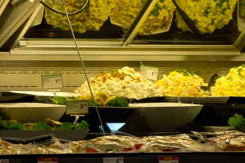 Image of bad grocery store display case lighting
